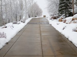 steep driveway with radiant heat