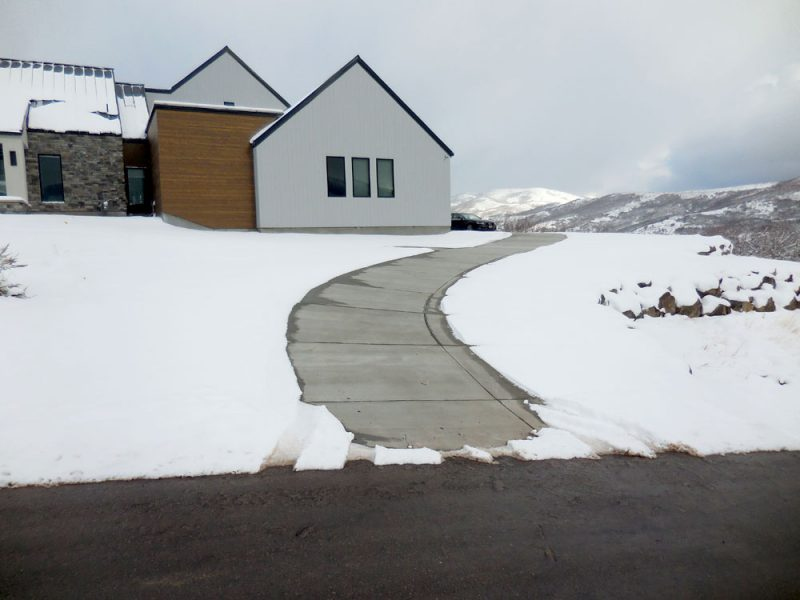 Heated Driveway Path