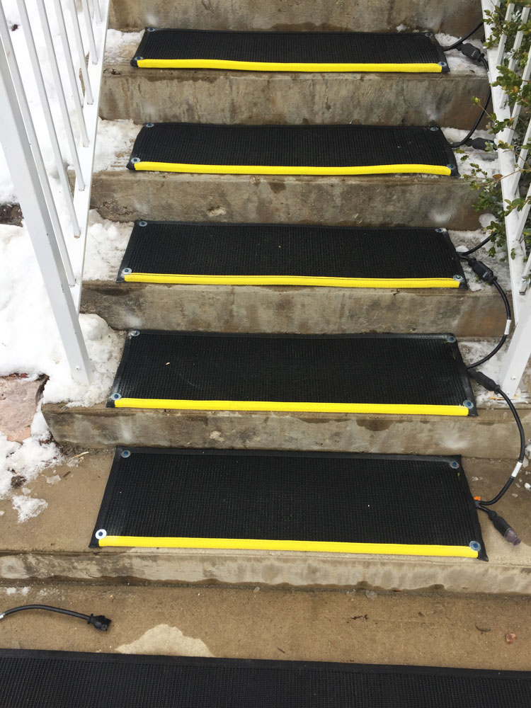 ... Click To Enlarge Image Heated Stair Mats