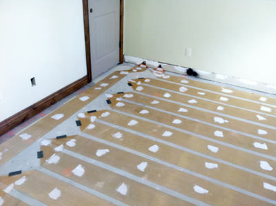 WarmQuest's ZMesh installed under flooring provides total space heating for a cabin